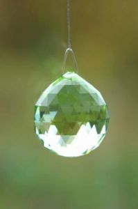 Crystal~Sphere 30Light Peridot Swarovski Hanging Rainbow Crystal-Stunning array of dancing light
